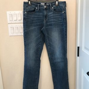 Mossimo Mid Rise Straight Leg Jean, size 12 Long